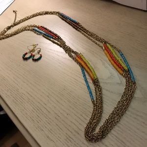 Charming Charlie necklace/ earrings set